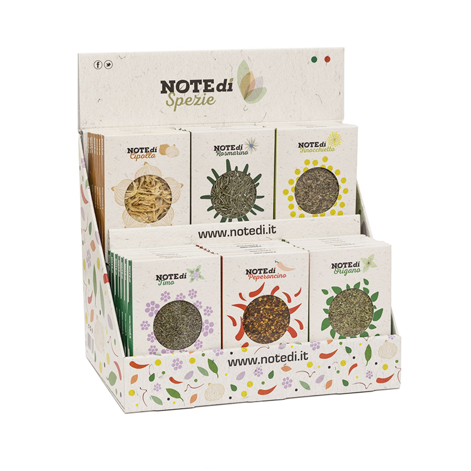 NOTEdi Spezie Countertop Display Box